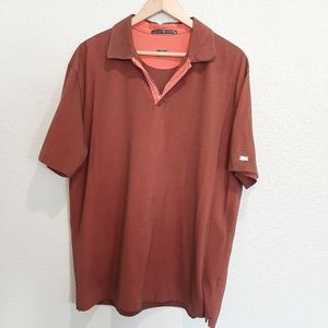 Tiger Woods Burnt Red Short Sleeve Polo Size Large